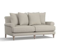 """Canapé norsborg Avis Beau Image Fionah Upholstered sofa 77"""" Down Blend Wrapped Cushions Washed"""