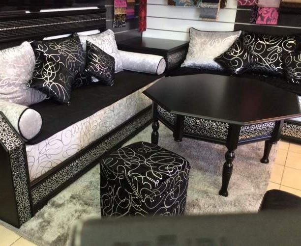Canapé Peau De Peche Inspirant Image 62 Idee Salon Marocain Noir Et Blanc Dimage