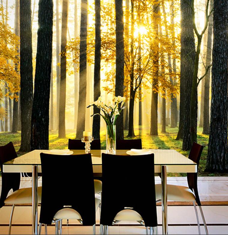 Canapé Peau De Peche Luxe Photos ⃝personnalisé 3d Naturel Paysage Murale Papier Peint forªt sous Le