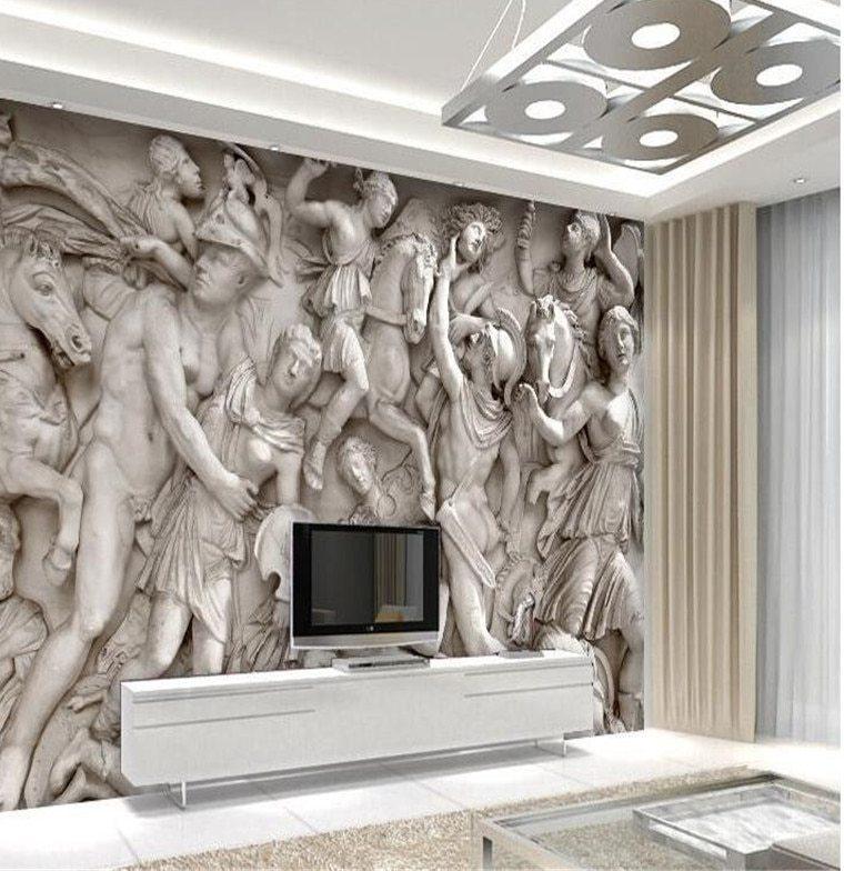 Canapé Ras Du sol Frais Collection ᗛbeibehang sous Papier Peint Personnalisé 3d Art Statues