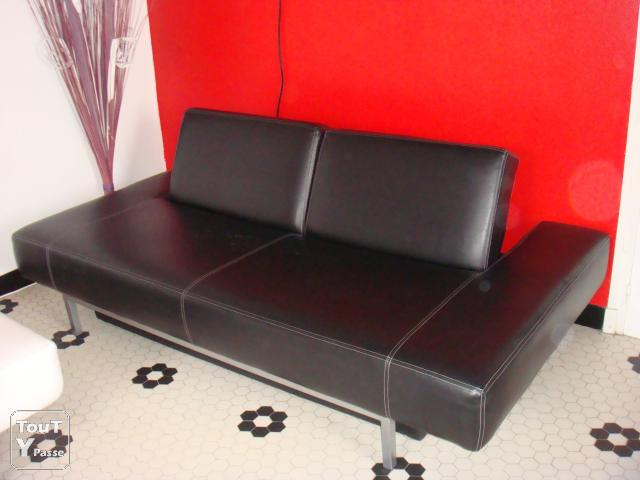 Canapé Simili Cuir Fly Inspirant Photos Banquette Convertible Fly Canape Fixe Places Tissu Gris with