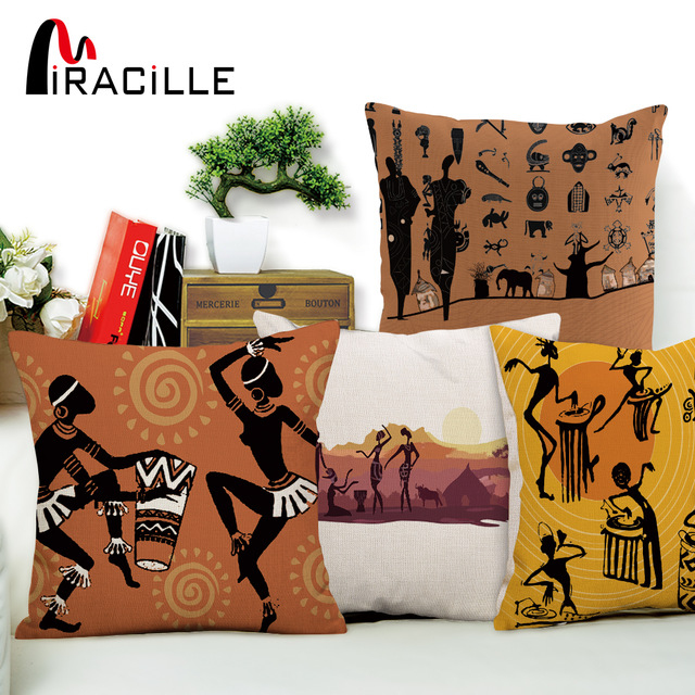 Canape Tissu Style Anglais Luxe Images Miracille Danse Femme Ethnique Housse De Coussin Style Africain Taie