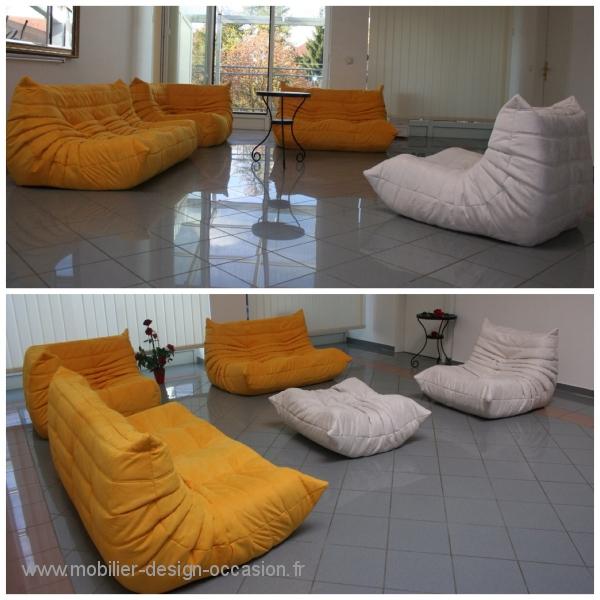 salon togo ligne roset occasion. Black Bedroom Furniture Sets. Home Design Ideas