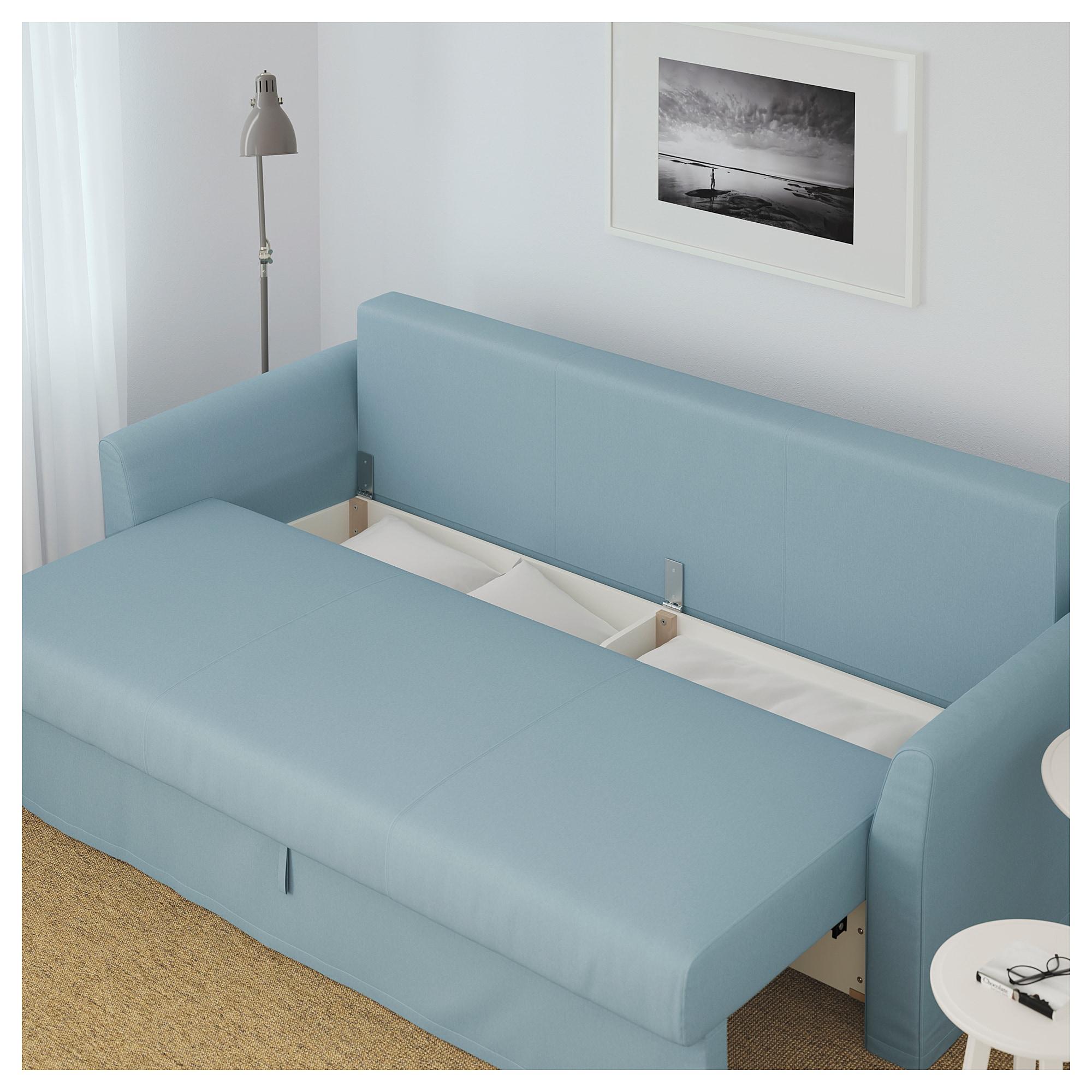 Canapés Convertibles Ikea Meilleur De Photos Holmsund Convertible 3 Places orrsta Bleu Clair Ikea