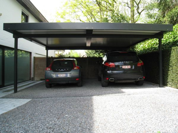 Carport Verona 5000 Gris Élégant Collection Carport Alu Belgique Maison Design Wiblia