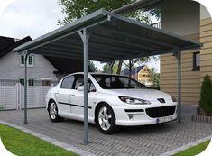 Carport Verona 5000 Gris Luxe Stock Bronze Aluminum Parking Lot Cut Out Sunshine Sunshield