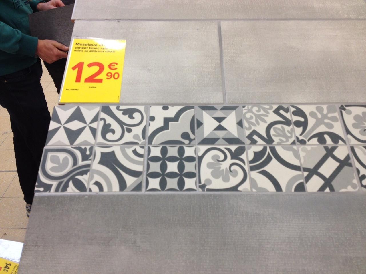 Carrelage Mosaique Castorama Frais Collection Carreaux De Ciment Castorama