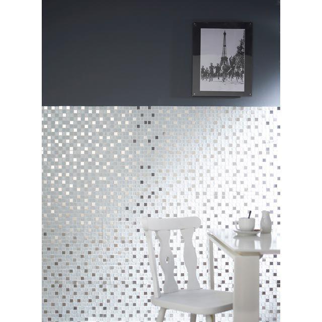Carrelage Mosaique Castorama Frais Image Mosa¯que Verre Mix Inox 32 X 32 Cm