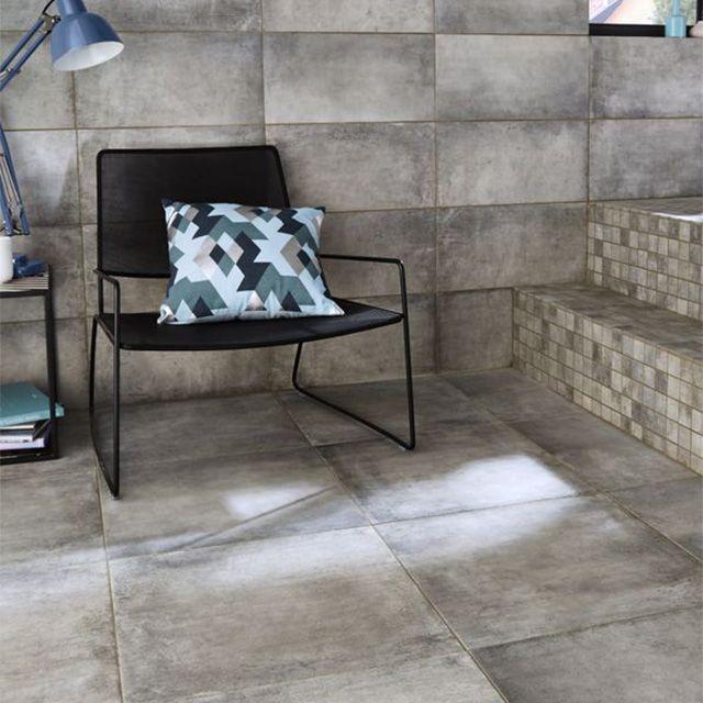 Carrelage Mosaique Castorama Inspirant Photos Carrelage sol Et Mur Gris 25 X 50 Cm Container Castorama