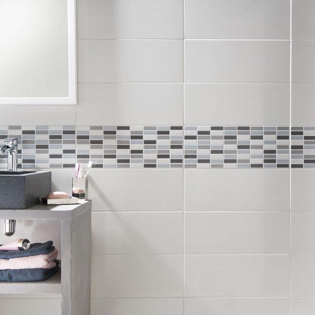 Carrelage Mosaique Castorama Luxe Stock Carrelage Mural Melotti Blanc 20 X 50 Cm Castorama