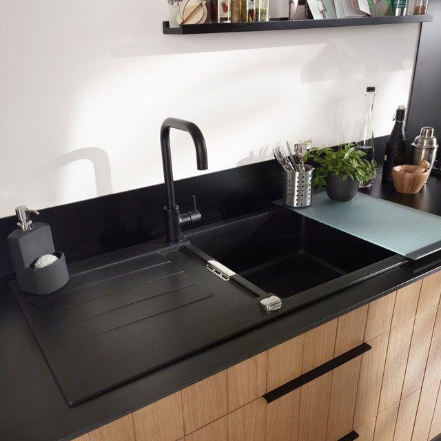 Castorama Plan De Travail Cuisine Impressionnant Images évier Granit  Encastrer Noir Alios Castorama Evier