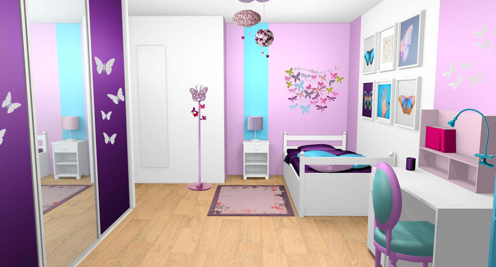 Chambre Ado Fille Moderne 2013 Violet Nouveau Galerie Image De Chambre De Fille