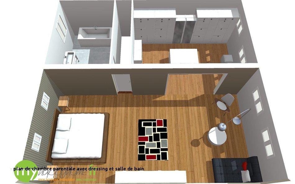 Chambre Avec Salle De Bain Et Dressing Beau Photos 27 Plan De Chambre Parentale Avec Dressing Et Salle De Bain