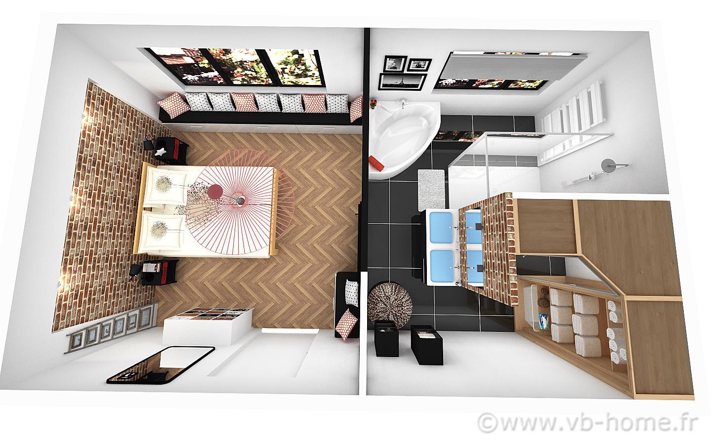Chambre Avec Salle De Bain Et Dressing Frais Stock Best Chambre Et Salle De Bain Contemporary Design Trends 2017