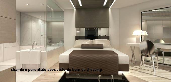 Chambre Avec Salle De Bain Et Dressing Impressionnant Collection 21 Chambre Parentale Avec Salle De Bain Et Dressing