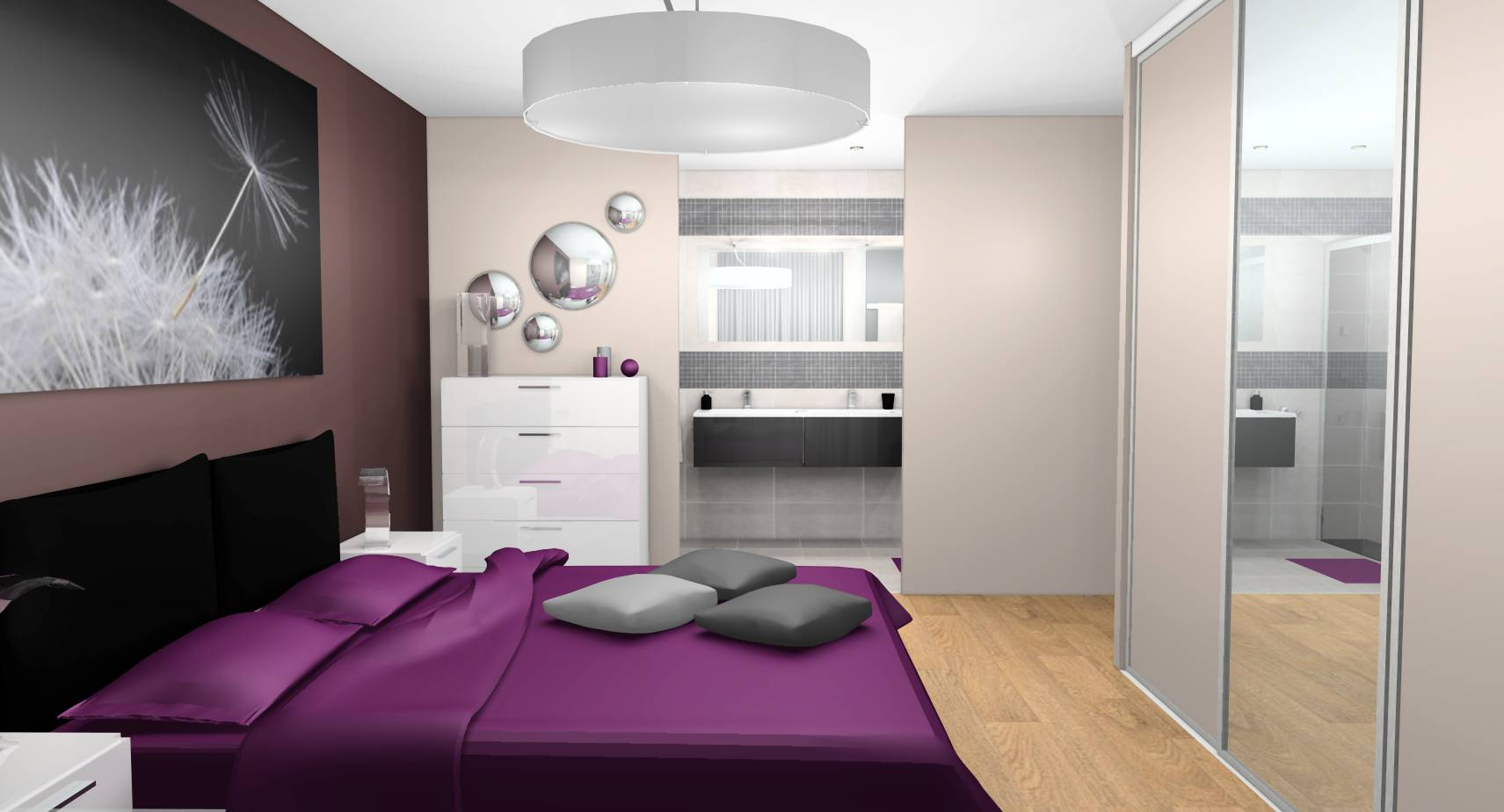 Chambre Violet Gris Meilleur De Photos Stunning Chambre Taupe Et Prune S Sledbralorne