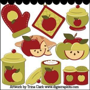 Clipart Ustensiles De Cuisine Impressionnant Stock Baking Day Clip Art original Artwork by Trina Clark