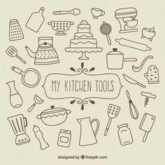 Clipart Ustensiles De Cuisine Meilleur De Images Fournitures De Cuisine Sketchy Pinterest