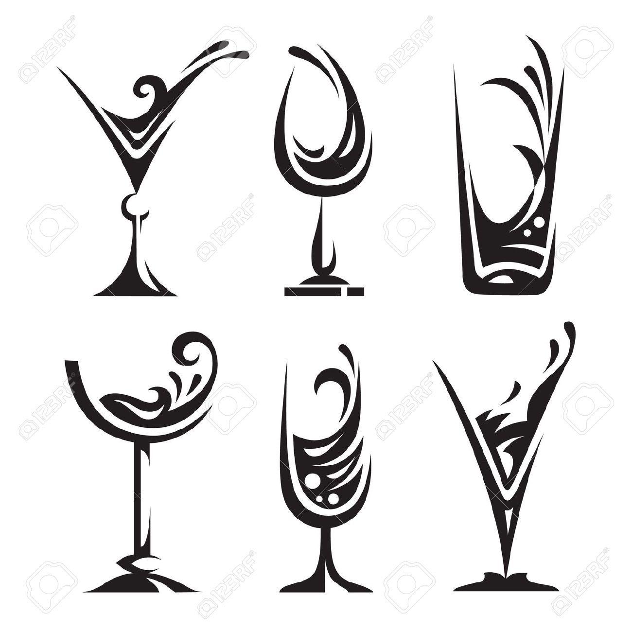 Clipart Ustensiles De Cuisine Meilleur De Photos Drinking Glass Collection Royalty Free Cliparts Vectors and