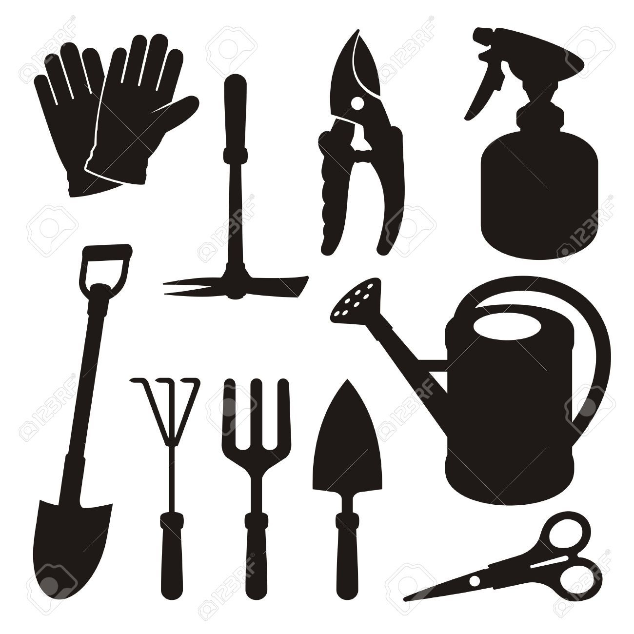 Clipart Ustensiles De Cuisine Unique Photos Gardening tools Stock Illustrations Cliparts and Royalty Free