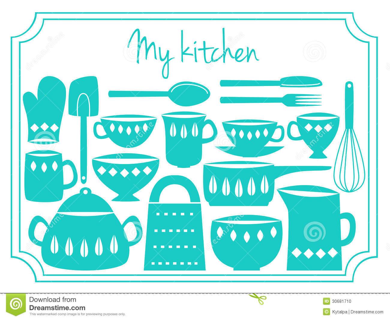 Clipart Ustensiles De Cuisine Unique Photos Label D Ustensiles De Cuisine Stock Illustrations Vecteurs