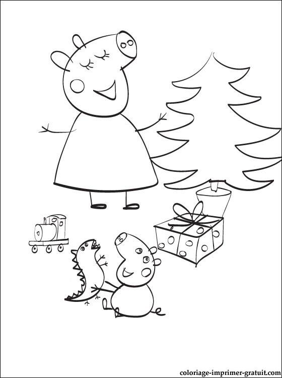 Coloriage De Peppa Pig à Imprimer Meilleur De Image Coloriage Noel Peppa Pig Meilleures Idées Coloriage Pour Les Enfants