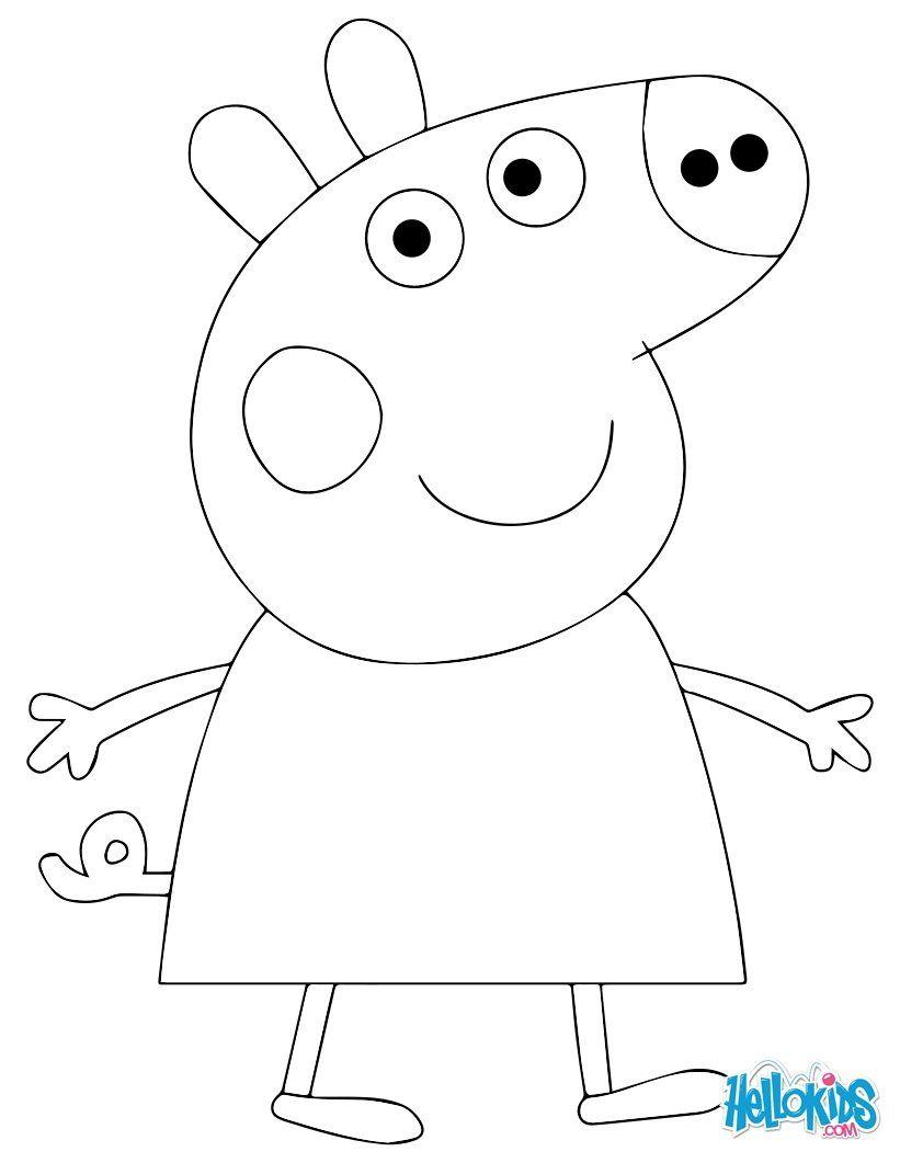 Coloriage Peppa Pig Imprimer Beau Galerie Peppa Pig Cake Template Colorier En Ligne Imprimer