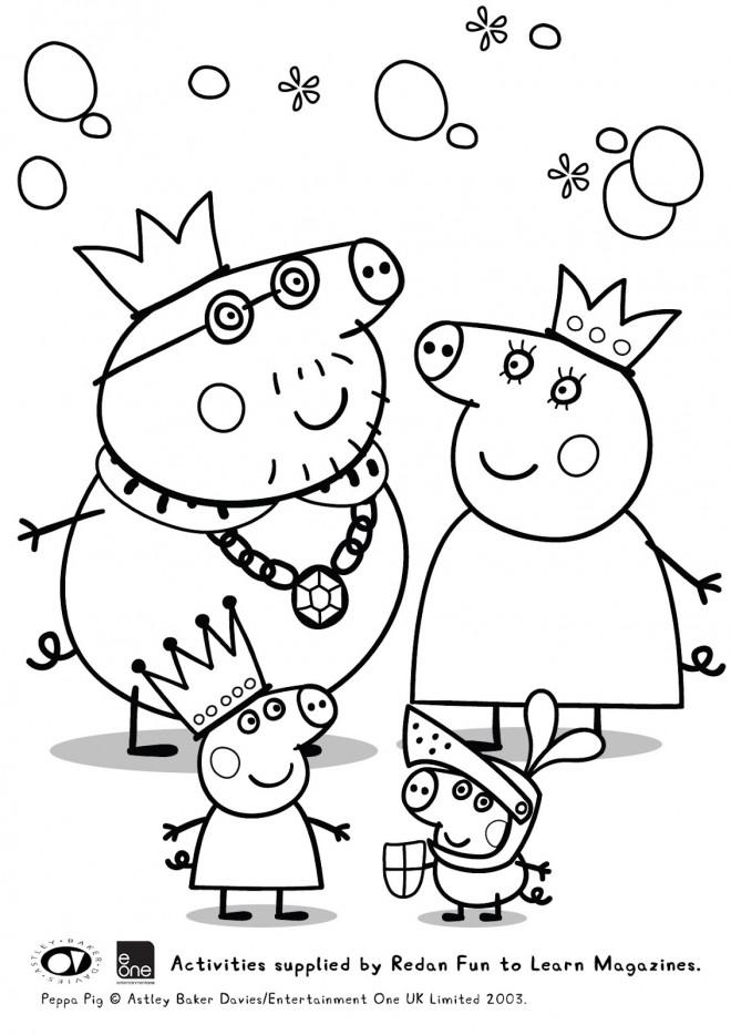 Coloriage Peppa Pig Imprimer Frais Images Coloriage Peppa Cochon Famille Royale Dessin Gratuit  Imprimer
