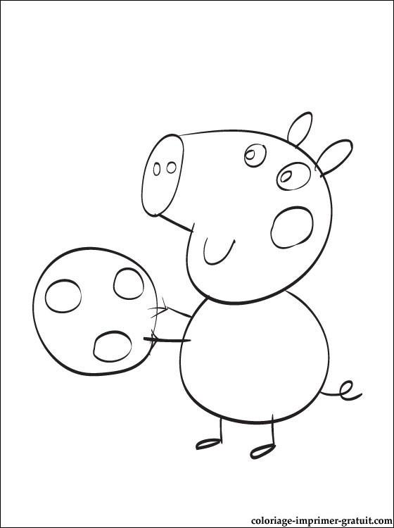 Coloriage Peppa Pig Imprimer Nouveau Collection 111 Dessins De Coloriage Peppa Pig  Imprimer Sur Laguerche