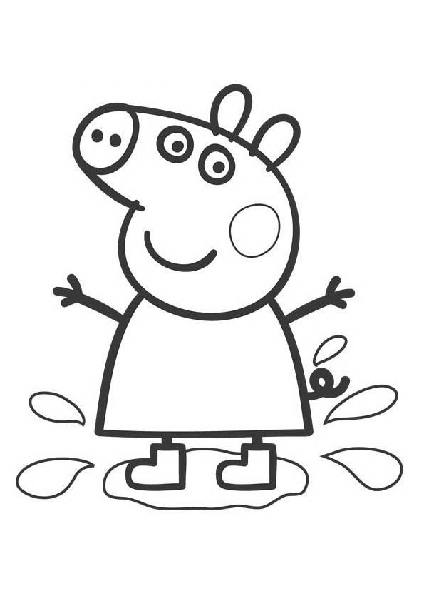Coloriage Peppa Pig Imprimer Unique Photographie Coloriage Peppa Pig Dessin Animé Dessin Gratuit  Imprimer