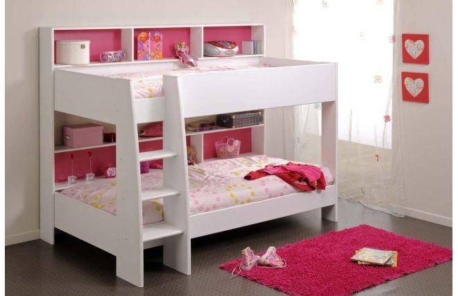 Comment Rehausser Un Lit Trop Bas Frais Collection Lit Superposé Fille Blanc Et Rose Aria Face