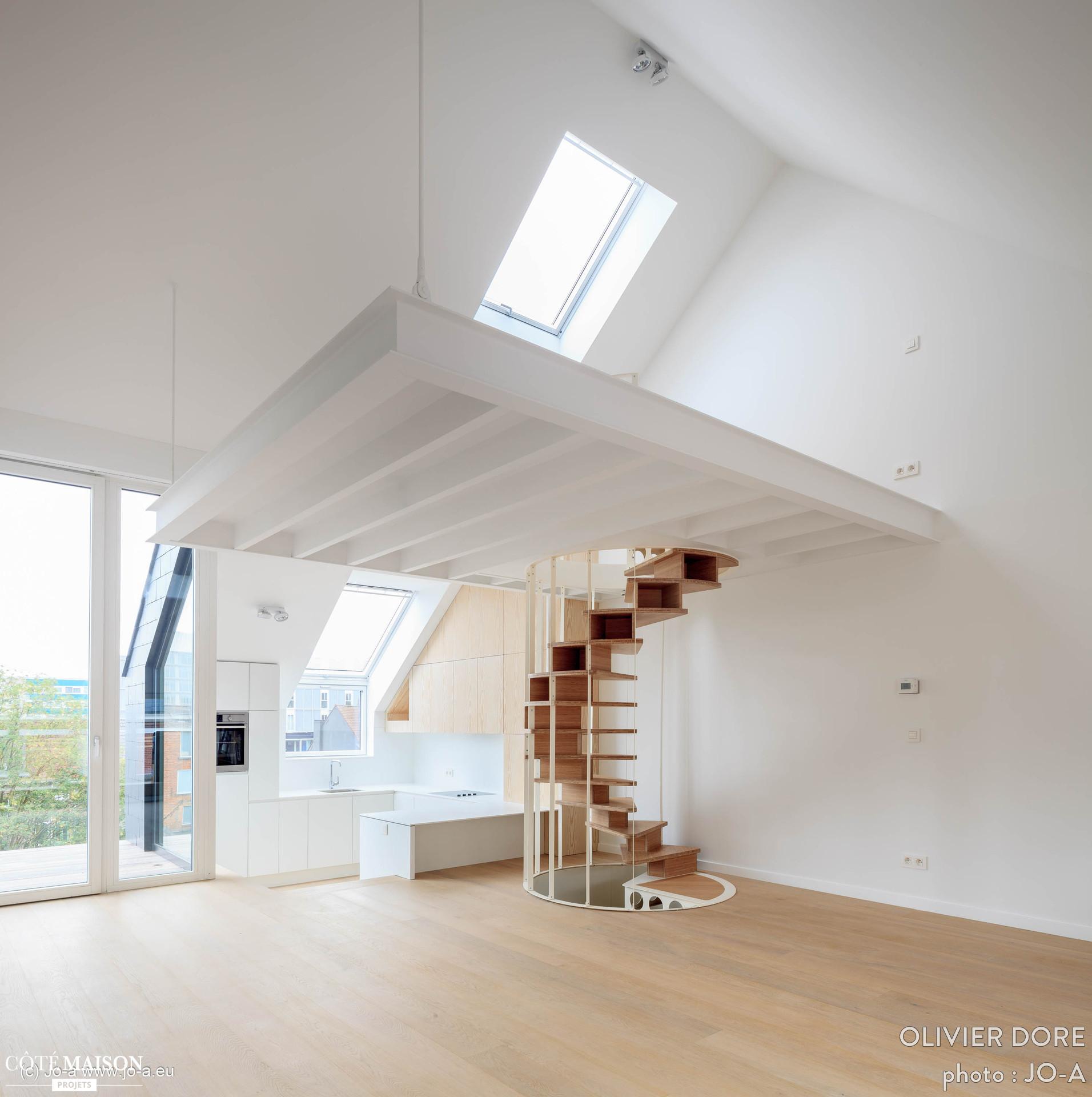 Cote Maison Salle De Bain Beau Images Double Escalier Colima§on Olmo Jo A C´té Maison