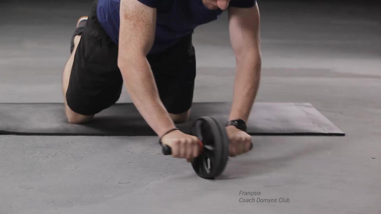 Coussin Yoga Decathlon Luxe Galerie Roue Abdominaux Crosstraining Ab Wheel Clubs & Collectivités