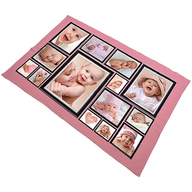 Couverture Mi Housse Polaire Impressionnant Photographie Plaids Personnalisés Collage Et Couvertures Brodées