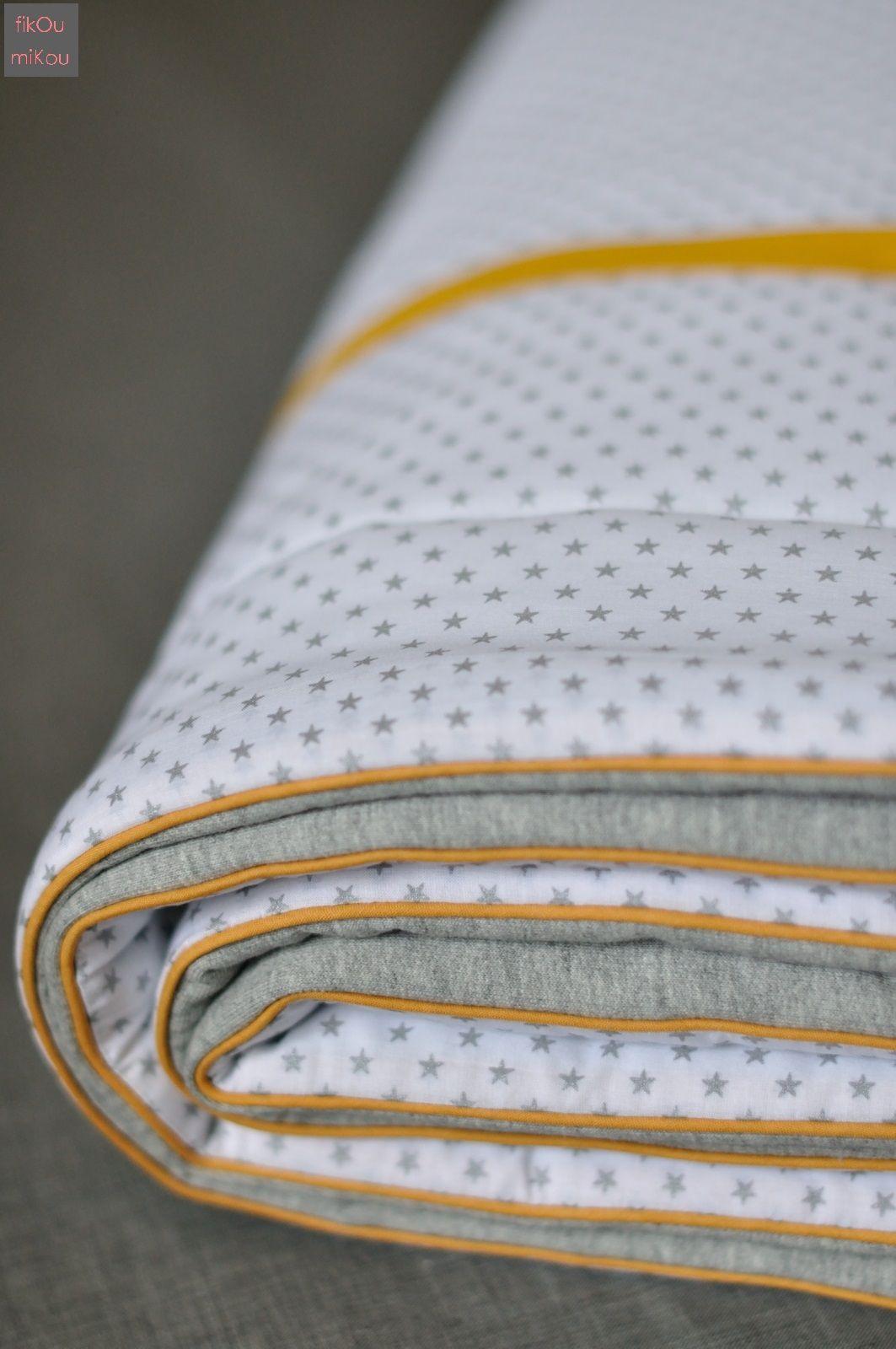 Couverture Mi Housse Polaire Impressionnant Stock Couverture Bébé Jersey Gris Batiste Blanc  étoiles Argent France
