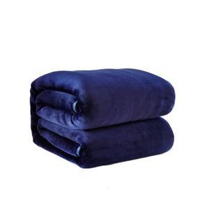 Couverture Mi Housse Polaire Luxe Collection Plaid Polaire Bleu Achat Vente Pas Cher