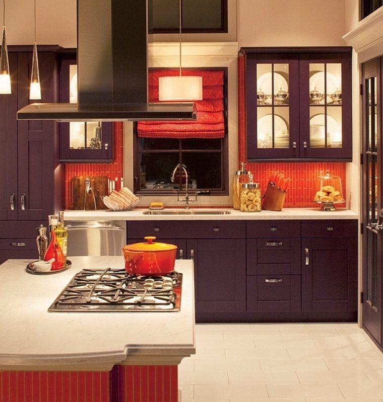 Cuisine Aubergine Et Bois Élégant Photos Cuisine Couleur Aubergine Inspirations Violettes En 71 Idées