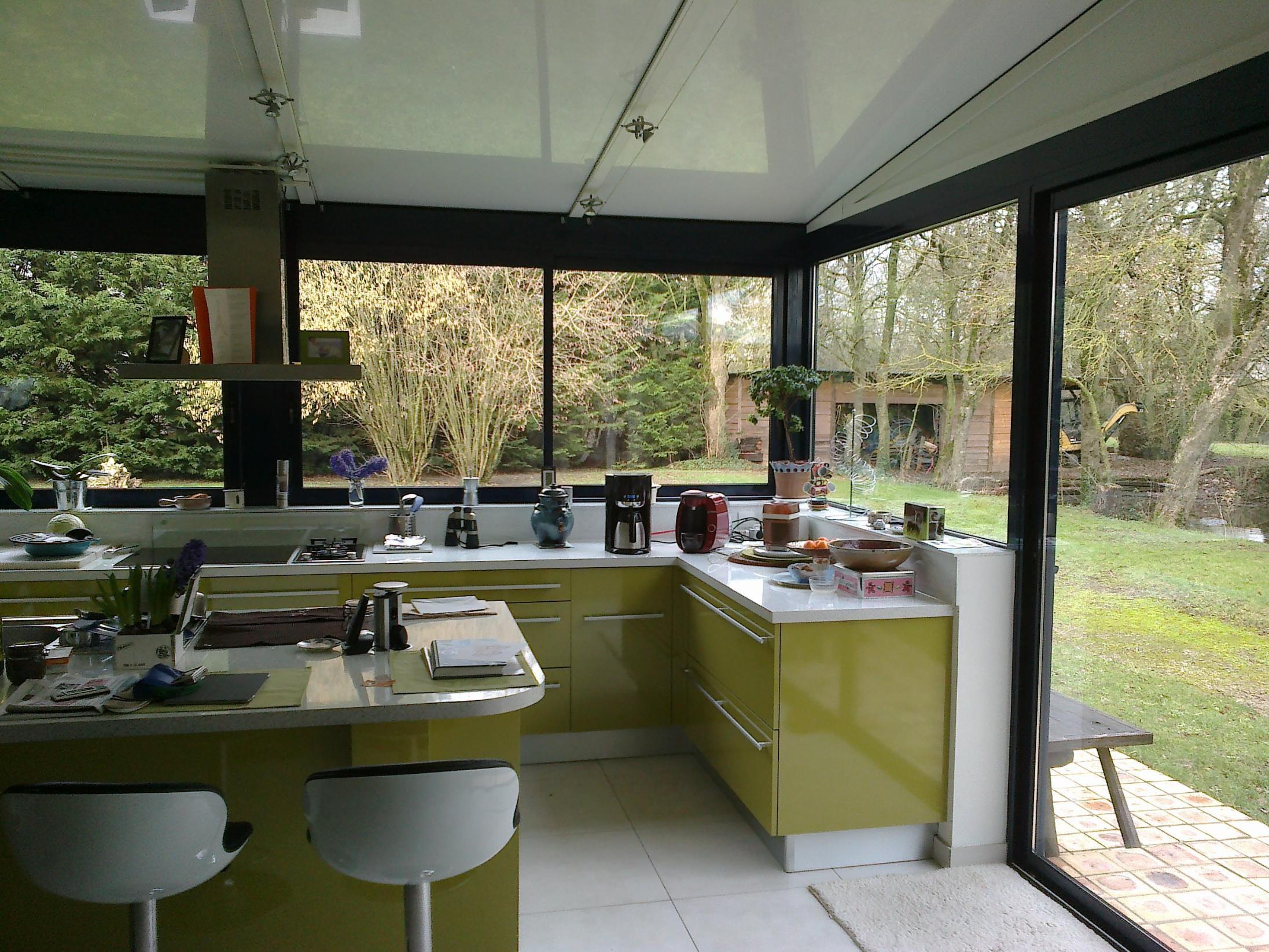 Cuisine Avec Baie Vitrée Meilleur De Photos Fabuleux Veranda En Bois Ouverte Décor  La Maison Et Intérieur
