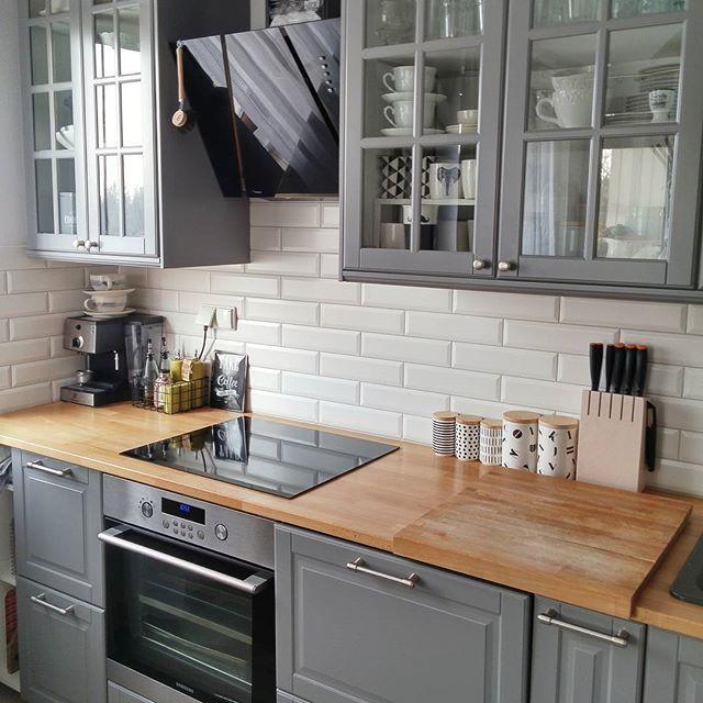 Cuisine Bodbyn Grise Ikea Inspirant Galerie Bodbyn Ikea Gray Lower Cabinets Kitchen Pinterest
