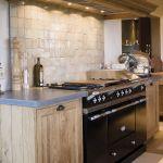 Cuisine Chalet Rustique Beau Photos Lacanche Range • Coconning Chalet Martine Haddouche