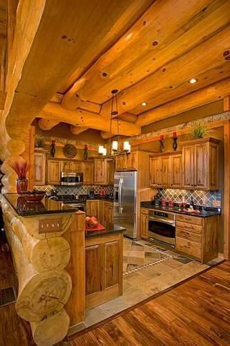 Cuisine Chalet Rustique Frais Collection Logs In the Kitchen Yes Yes Yes 3 Casa Pinterest
