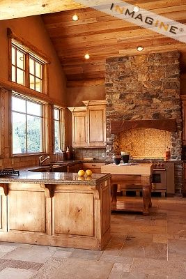 Cuisine Chalet Rustique Frais Collection Love the Ceiling and Stone In This Rustic Kitchen