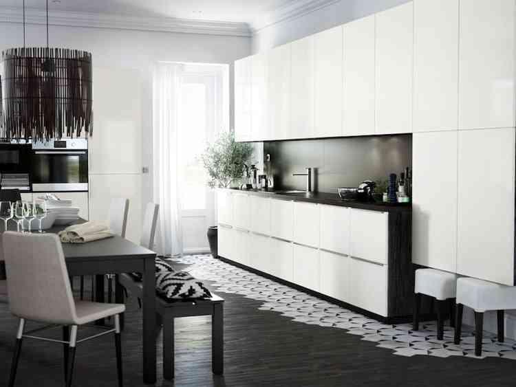Cuisine Ikea Ringhult Blanc Brillant Avis Inspirant Photos Cuisine Ikea Metod Ringhult Noire Et Blanche Cuisine De 2018