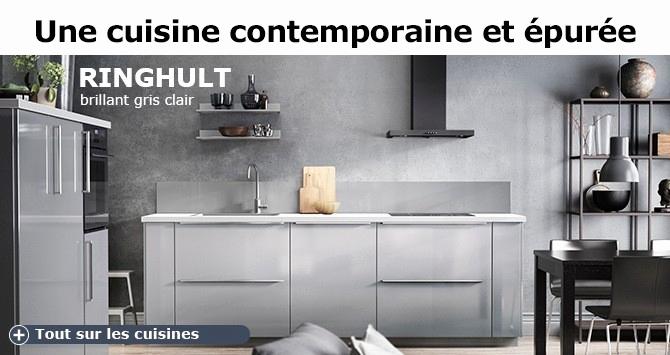 Cuisine Ikea Ringhult Blanc Brillant Avis Luxe Images 22 Génial De Cuisine Ikea Noire