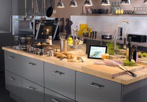 Cuisine Intégrée Leroy Merlin Beau Photos Meuble Cuisine Gris Avec Meuble De Cuisine Gris Delinia Nuage Leroy