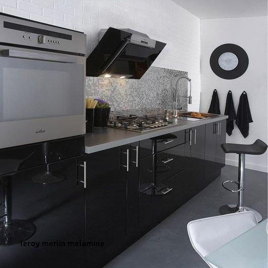 Cuisine Noir Mat Et Bois Beau Image Cuisine Noire Mat Leroy Merlin Beau Leroy Merlin Melamine Kuchnia