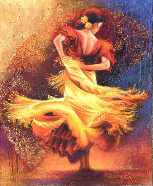 Danseuse Flamenco Dessin Beau Images Gypsy Dance Beautiful Peintures Dessins Flamenco