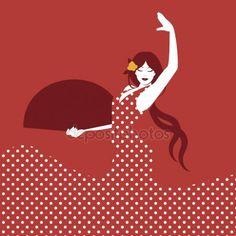 Danseuse Flamenco Dessin Élégant Photos Danseuse Flamenco Fille Danseuse Espagnole De Flamenco Avec