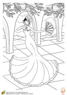 Danseuse Flamenco Dessin Luxe Galerie 61 Best Coloriages De Danse Images On Pinterest