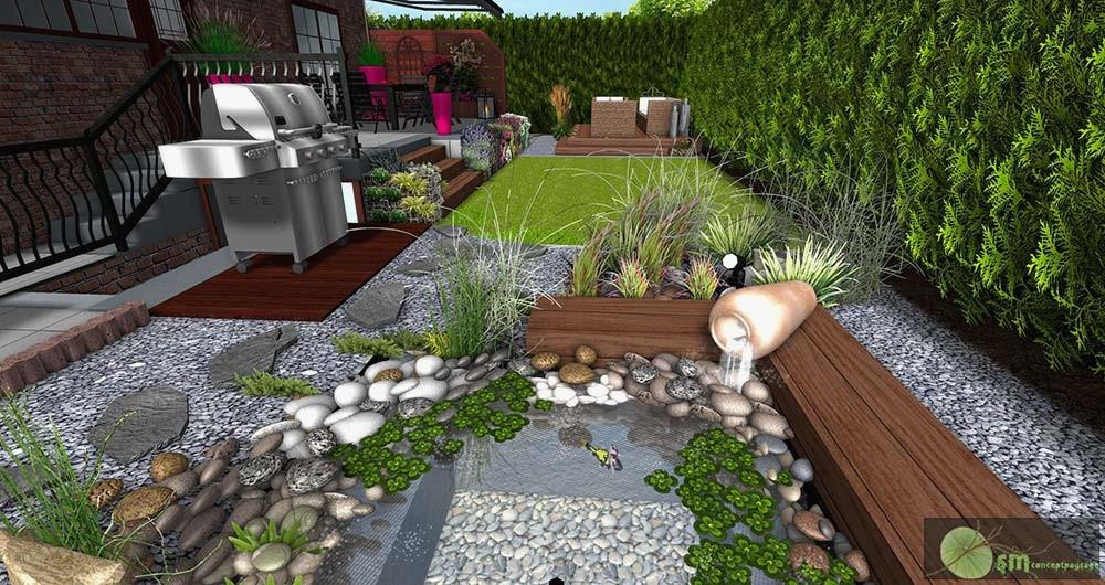 Deco Jardin Avec Piscine Élégant Image Decoration Jardin Avec Galets Amenagement Exterieur Avec Cailloux